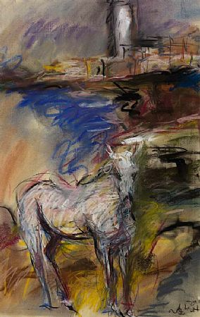 Ronan Walsh (20th/21st Century), Landscape with Horse at Morgan O'Driscoll Art Auctions