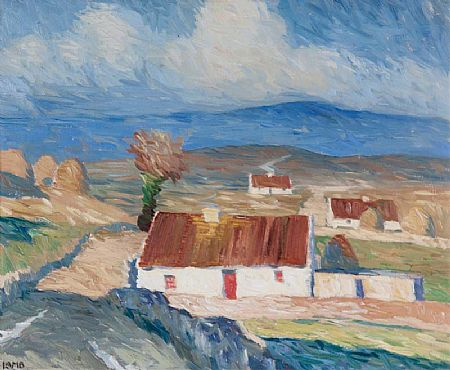 Charles Vincent Lamb RHA RUA (1893-1965), Cottages, Gleann Mor at Morgan O'Driscoll Art Auctions