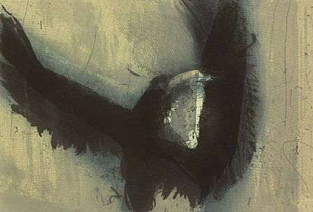 Hughie O'Donoghue (b.1953), Crow at Morgan O'Driscoll Art Auctions