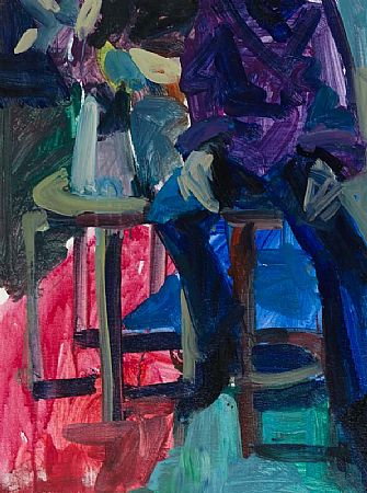 Brian Ballard RUA (b.1943), Seated Figure with Flowers at Morgan O'Driscoll Art Auctions