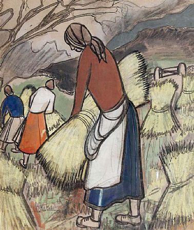 Markey Robinson (1918-1999), Stacking Hay at Morgan O'Driscoll Art Auctions