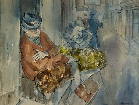 Patrick Hennessey RHA (1915-1980), The Flower Seller at Morgan O'Driscoll Art Auctions