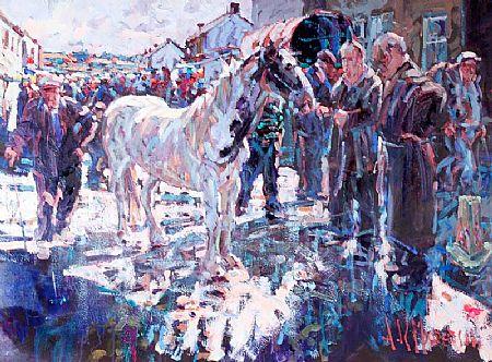 Arthur K. Maderson (b.1942), Study, Tallow Horse Fair at Morgan O'Driscoll Art Auctions