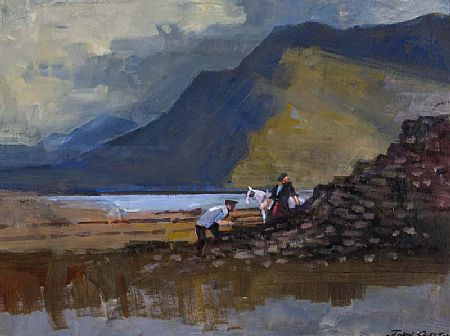 John Skelton Snr (1923-2009), The Turf Gatherers at Morgan O'Driscoll Art Auctions