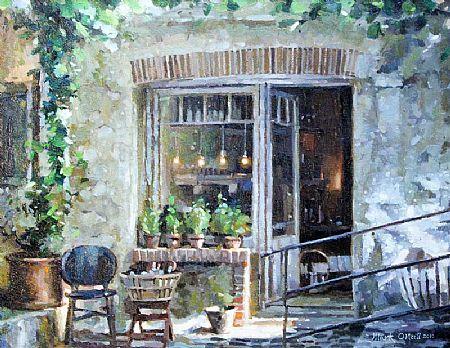 Mark O'Neill (b.1963), Le Petit Caf�, St. Paul De Venice at Morgan O'Driscoll Art Auctions