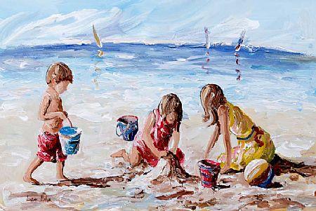 Lorna Millar (20th/21st Century), Beach Fun at Morgan O'Driscoll Art Auctions