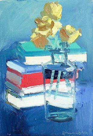 Brian Ballard RUA (b.1943), Yellow Roses and Books at Morgan O'Driscoll Art Auctions