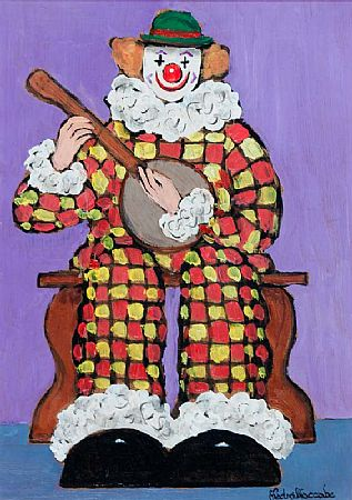 Gladys MacCabe ROI FRSA MA HRUA (1918-2018), Clown Playing the Banjo at Morgan O'Driscoll Art Auctions