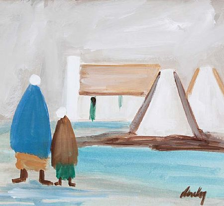 Markey Robinson (1918-1999), Shawlies and Cottages at Morgan O'Driscoll Art Auctions