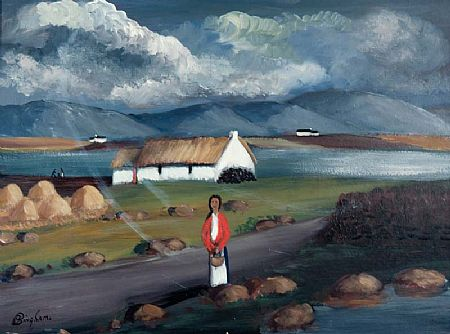 Jimmy Bingham (1925-2009), Woman in Landscape at Morgan O'Driscoll Art Auctions
