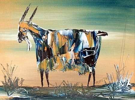 Michael Smyth (b.1961), Goat in the Meadow at Morgan O'Driscoll Art Auctions