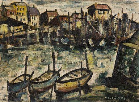 Henry Healy RHA (1901-1982), Boats at the Quay at Morgan O'Driscoll Art Auctions