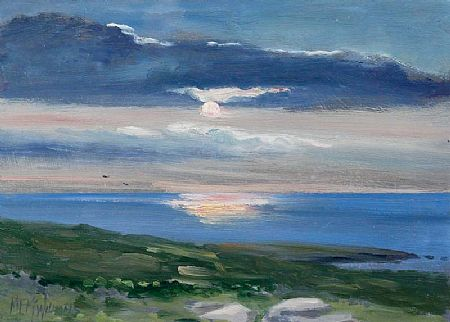 Michael MacWilliams (20th/21st Century), Setting Sun, Inish Mor at Morgan O'Driscoll Art Auctions
