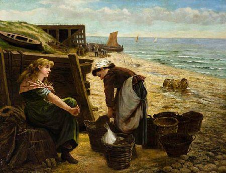 Joseph John Jenkins (1811-1885) British, Fisherfolk at Morgan O'Driscoll Art Auctions