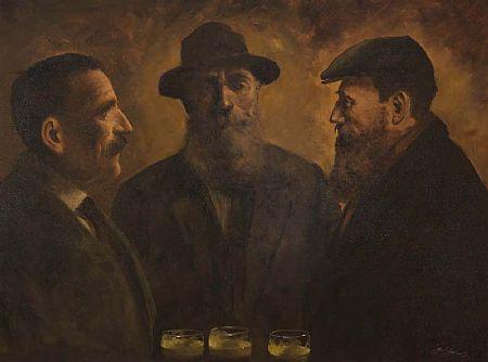 Ted Jones (b.1952), Old Pals at Morgan O'Driscoll Art Auctions