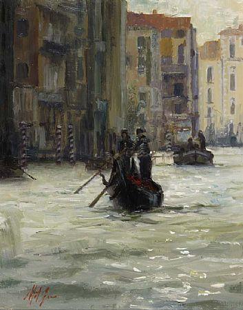 Mat Grogan (20th/21st Century), Gondolier at Morgan O'Driscoll Art Auctions