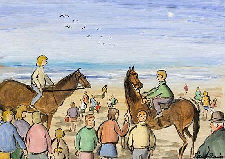 Gladys MacCabe ROI FRSA MA HRUA (1918-2018), Beach Riders at Morgan O'Driscoll Art Auctions