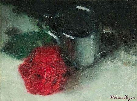 Thomas Ryan PPRHA (b.1929), Red Rose and Jug at Morgan O'Driscoll Art Auctions