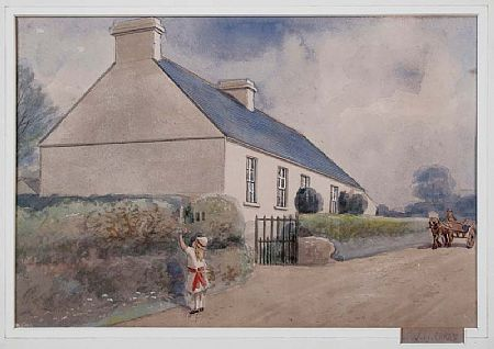 Joseph William Carey RUA (1859-1937), Houses, Newry Road, Banbridge at Morgan O'Driscoll Art Auctions