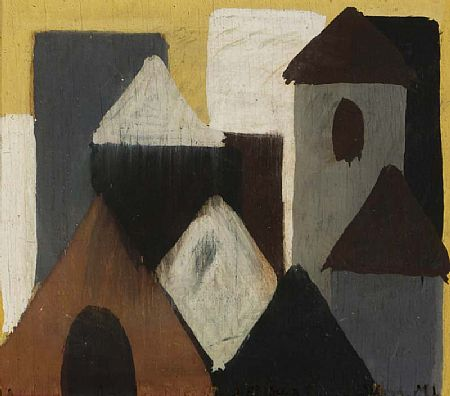 Markey Robinson (1918-1999), Rooftops at Morgan O'Driscoll Art Auctions