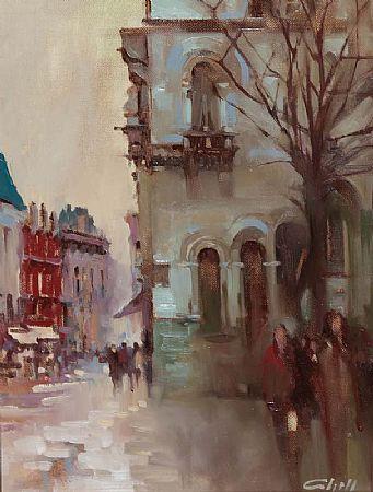 Patrick Cahill (20th/21st Century), Dame Street, Dublin Rain at Morgan O'Driscoll Art Auctions