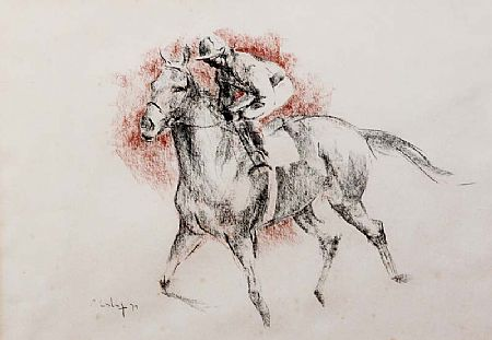 Peter Curling (b.1955), Horse and Jockey Study at Morgan O'Driscoll Art Auctions