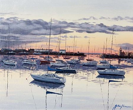 John Kirwan (b.1956), Evening, West Pier, Howth at Morgan O'Driscoll Art Auctions
