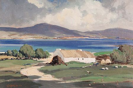 George Gillespie RUA (1924-1996), Lakeside Cottages at Morgan O'Driscoll Art Auctions