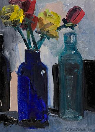 Brian Ballard RUA (b.1943), Roses in a Blue Bottle at Morgan O'Driscoll Art Auctions