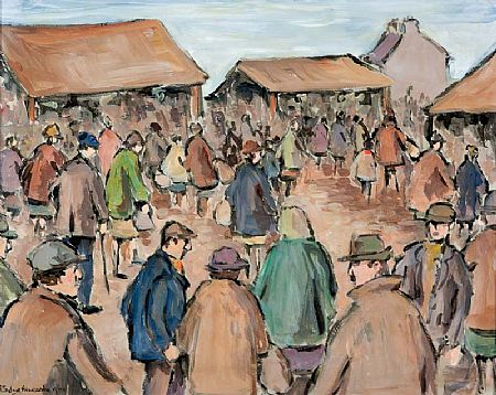 Gladys MacCabe ROI FRSA MA HRUA (1918-2018), At Donegal Fair at Morgan O'Driscoll Art Auctions