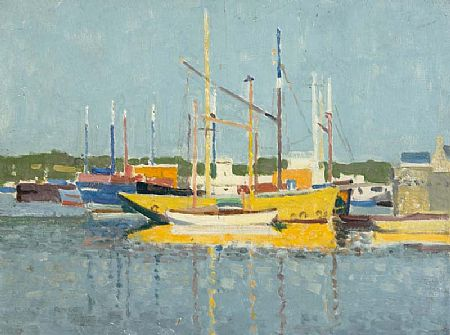 Stanley Royle (1888-1961), Boats, Concarneau, 1957 at Morgan O'Driscoll Art Auctions