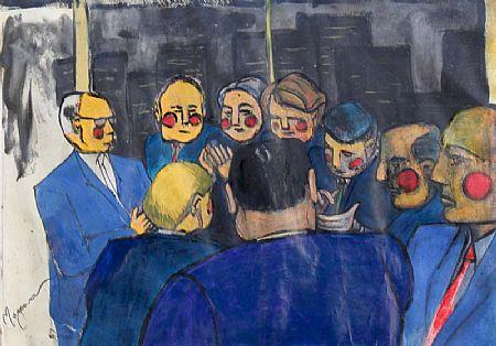 Samantha Magowan (b.1979), Red Face Bankers at Morgan O'Driscoll Art Auctions