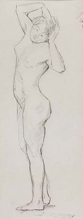 Mary Swanzy HRHA (1882-1978), Standing Nude at Morgan O'Driscoll Art Auctions