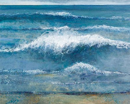 Jo Ashby (20th/21st Century), Crashing Surf, Silver Strand, Sherkin at Morgan O'Driscoll Art Auctions