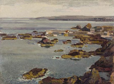 Stanley Royle (1888-1961), Coastal View of St. Abb's Harbour, Fifie, 1957 at Morgan O'Driscoll Art Auctions