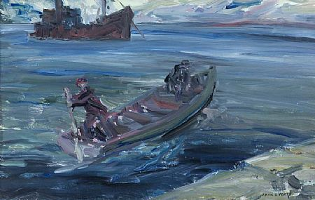 Jack Butler Yeats RHA (1871-1957), The Pilot (also known as 'The Captain Goes Aboard') at Morgan O'Driscoll Art Auctions