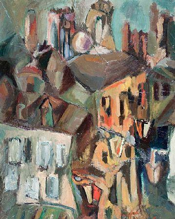 George Campbell RHA RUA (1917-1979), Fishing Harbour Night at Morgan O'Driscoll Art Auctions