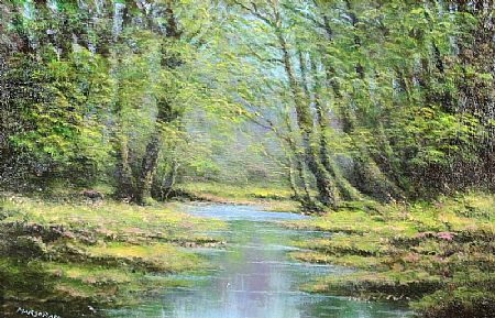 Gerard Marjoram (b.1936), A Woodland Stream at Morgan O'Driscoll Art Auctions