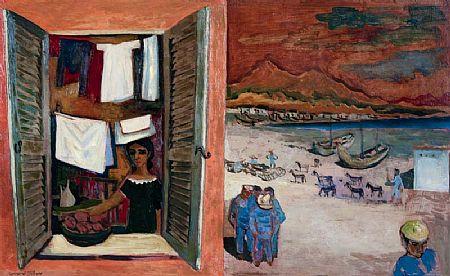 Gerard Dillon RHA RUA (1916-1971), Spanish Fishing Village at Morgan O'Driscoll Art Auctions