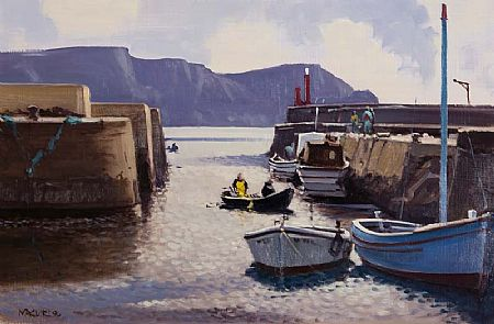 Cecil Maguire RHA RUA (1930-2020), Purteen Harbour, Achill Island, Co. Mayo at Morgan O'Driscoll Art Auctions