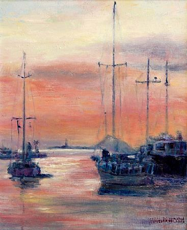 Sarah Davidson (20th/21st Century), Dusk, Andrat Harbour, Majorca at Morgan O'Driscoll Art Auctions