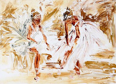 Louise Mansfield (20th/21st Century), The Two Dancers at Morgan O'Driscoll Art Auctions