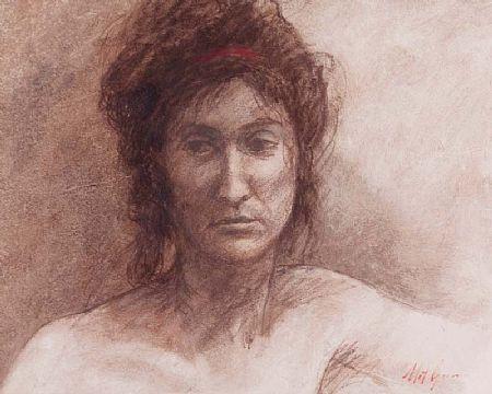 Mat Grogan (20th/21st Century), Portrait of a Lady at Morgan O'Driscoll Art Auctions