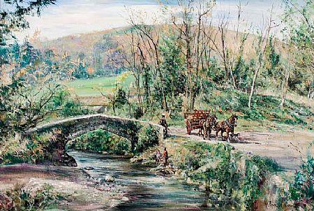 Gordon King (b.1939) British, Rural Scene at Morgan O'Driscoll Art Auctions
