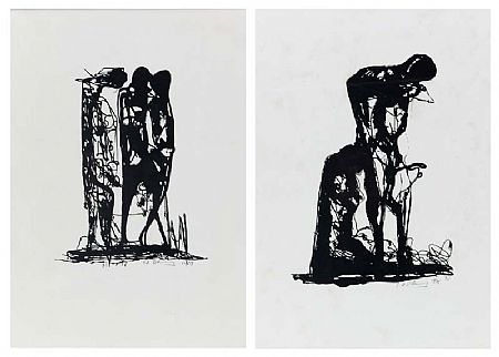 Edward Delaney RHA (b.1930), Illustrations for the Book of Samson's Riddle at Morgan O'Driscoll Art Auctions