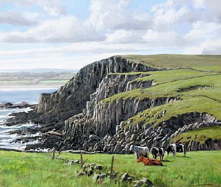 Eugene Conway (20th/21st Century), Clifftop Cows at Morgan O'Driscoll Art Auctions