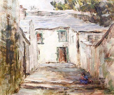 Padraic Woods (1893-1991), Galway Village at Morgan O'Driscoll Art Auctions