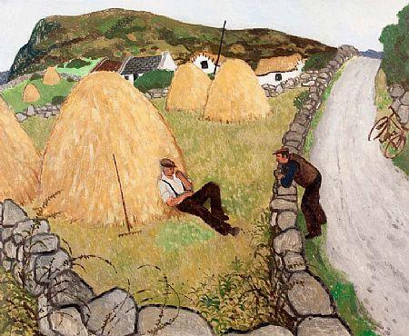 James MacIntyre RUA (b.1926), Making Hay at Morgan O'Driscoll Art Auctions