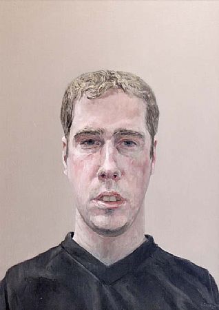 Comhghall Casey (20th/21st Century), Self Portrait at Morgan O'Driscoll Art Auctions