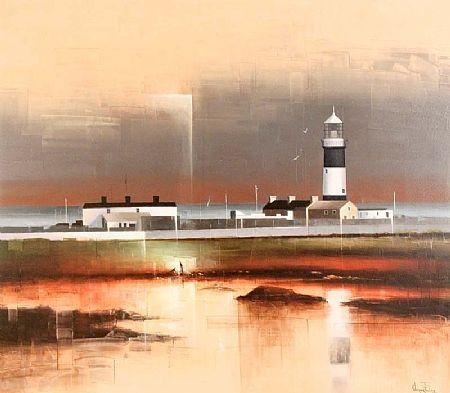 Verner Finlay (20th/21st Century), Tory Island Lighthouse, Bloody Foreland, Co. Donegal at Morgan O'Driscoll Art Auctions